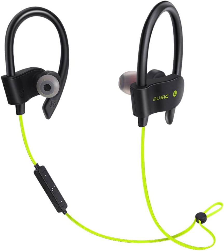 Stereo Earbuds Wireless Bluetooth, Wireless Bluetooth Headset Headphones Sport Sweatproof Stereo Earbuds Earphone,Single Ear Bluetooth Cell Phone Headsets,Green