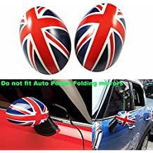 Xotic Tech Union Jack Manual Side Mirror Covers Caps for Mini Cooper Driver/Passenger Side