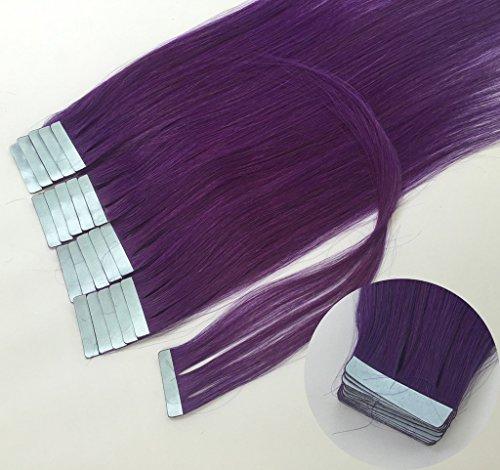 "Qianren 16"" 18"" 20"" 22"" 24"" Tape In Real Human Hair Exten..."