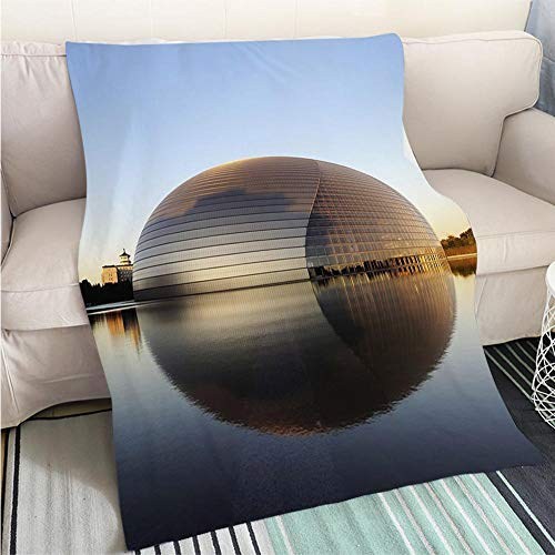 BEICICI Luxury Super Soft Blanket Beijing National Opera House in The Morning Sofa Bed or Bed 3D Printing Cool Quilt