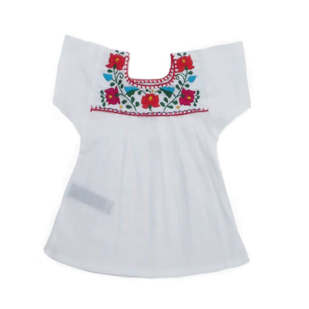 Mexican Clothing Co Baby Girls Mexican Blouse Tehuacan Light Manta CT MXCCO08404