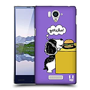 Head Case Designs Gotcha Oscar and Howard Protective Snap-on Hard Back Case Cover for Sharp Aquos Xx 304SH LTE