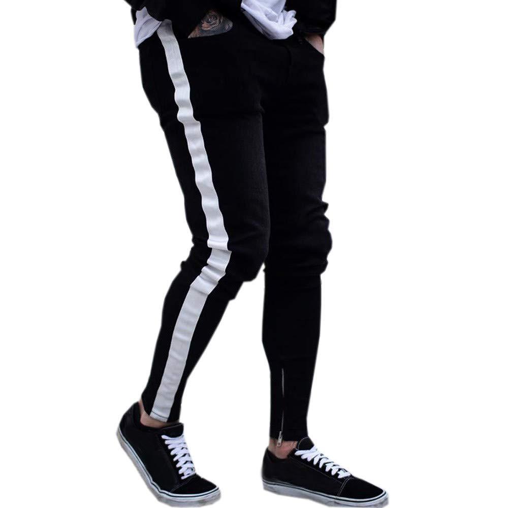 AMSKY ❤ Men Denim Jeans, Fashion Slim Fit Biker Zipper ...