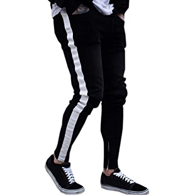 b0d9697bc7eb Rambling 2018 New Men s Slim Fit Ripped Vintage Moto Biker Jeans Skinny  Denim Pencil Pants Hiphop
