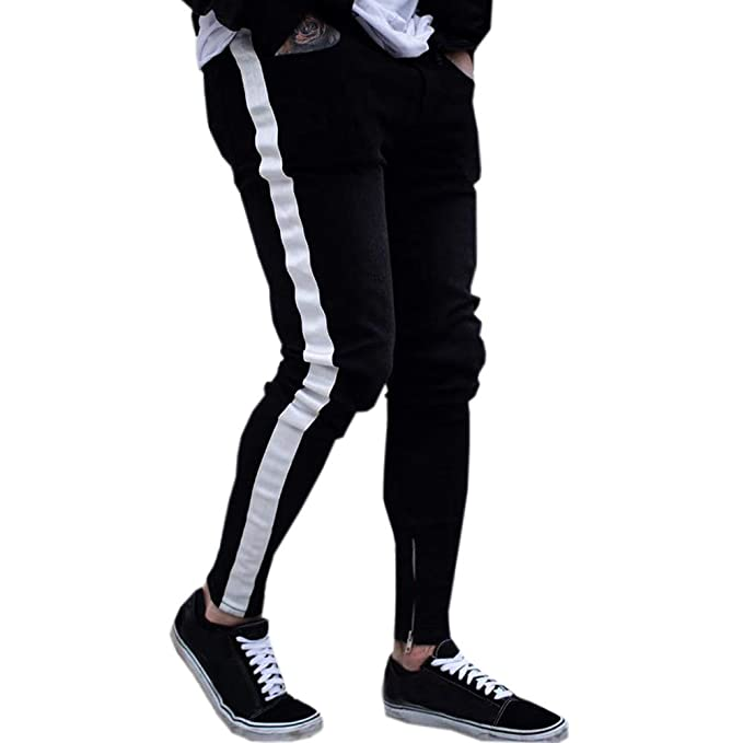 AMSKY ❤ Men Denim Jeans, Fashion Slim Fit Biker Zipper ...