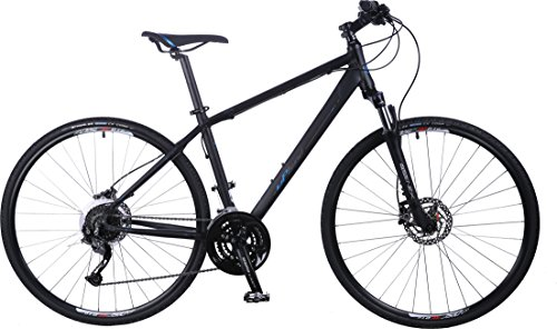 Upland Bikes Pacers Men Black Medium, 27 Speed, Shimano Hydraulic Disc Brakes,Road Bike