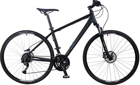 Upland Bikes Pacers Men Black Medium, 27 Speed, Shimano Hydraulic Disc Brakes,Road Bike