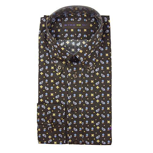 Etro Brown Cotton Shirt - Slim