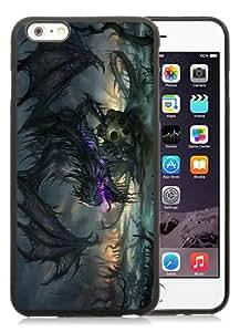 Dragon 1 Black Custom Phone Shell iPhone 6 Plus 5.5 Silicone TPU Case Cool Design