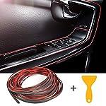 YOTINO Car Interior Moulding Trim Strips, 10 Meters Car Red Trim Gap Filler Universal Decorations Flexible Edge Trim…
