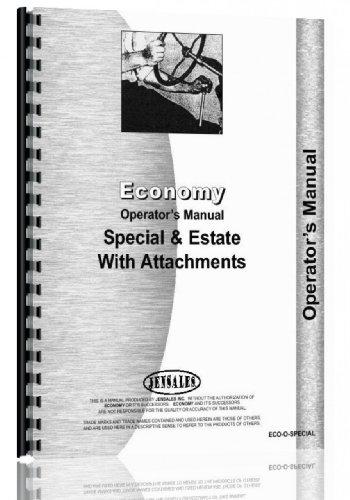 Economy Tractor - Economy Lawn & Garden Tractor Operators Manual