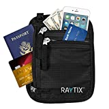 Neck Wallet w/RFID, Well Designed & Comfortable Money Carrier For Travelling Travel Pouch & Passport Holder