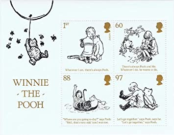 Winnie the Pooh sellos, presentación paquetes, Mini hojas ...