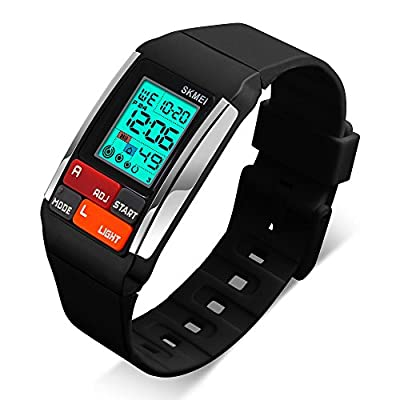 Kids Watches Boy Girl Digital Sports Waterproof Wrist Watch with Alarm for Child from JELERCY