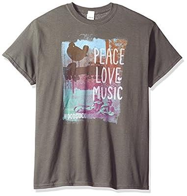 Trevco Men's Woodstock Peace Love Music T-Shirt
