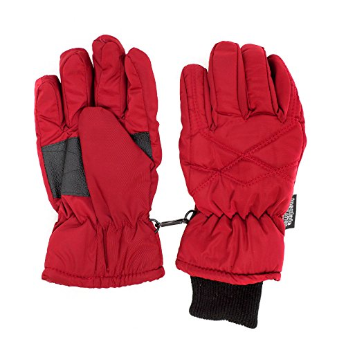 SANREMO Unisex Kids Thinsulate and Waterproof Cold Weather Ski Gloves