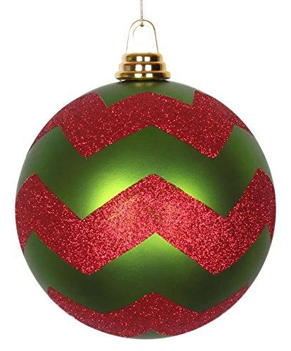 Amazon Com Vickerman Decorative Ball With Red Glitter 150mm Matte