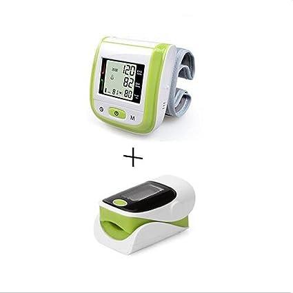 ZWW Oxímetro de dedo y monitor de frecuencia cardíaca and Tensiómetro de muñeca equipo , Green