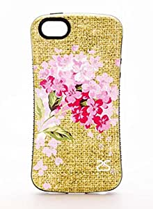 iPhone 6 Case, TPU + PC Hybrid for iPhone 6 (4.7-inch), Flower Pink Theme - 6017i1