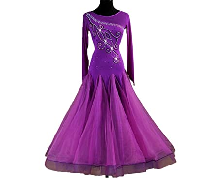 National Standard Ballroom Dance Dresses for Women Competition Dancewear Long Sleeves Waltz Tango Smooth Competition Dresses