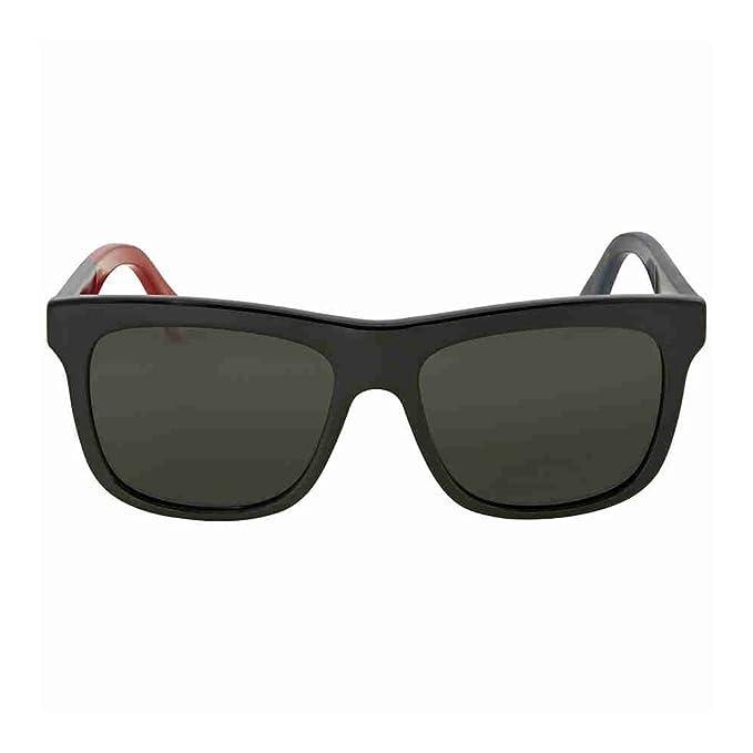 Gucci GG0158S 003, Gafas de Sol Unisex Adulto, Negro (3/Grey)