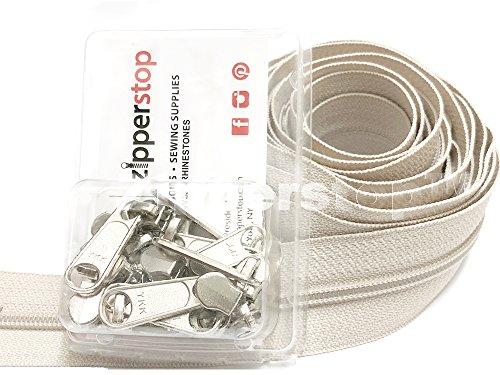 Zipperstop Wholesale - YKK Zippers by Yard, #4.5 Coil Zipper