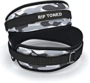Rip Toned Weight Lifting Belt - 4.5 Inch Workout Belts for Weightlifting, Powerlifting, Bodybuilding, Strength