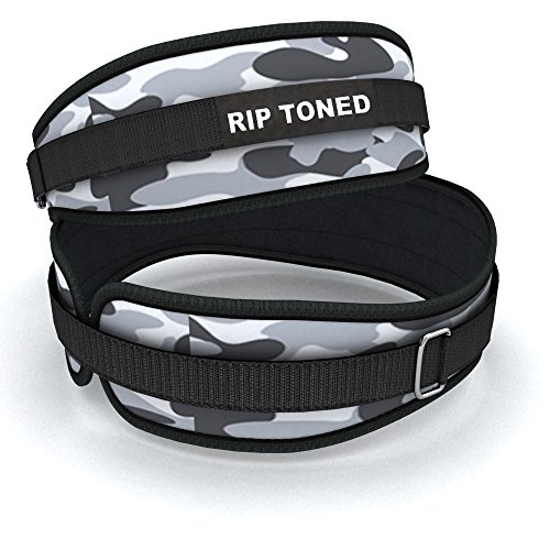 Lifting Belt By Rip Toned 4.5 Inch Weightlifting Back Support & Bonus Ebook For Powerlifting, Xfit, Bodybuilding, Strength & Weight Training, MMA
