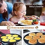 KUTIME Pancake Pan Pancake Griddle with 7 Flapjack