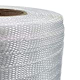 "IDL Packaging 1/2"" Heavy Duty Woven Cord Strapping, 1500' Length, 650 lb. Break Strength, 6"" x 3"" Core"