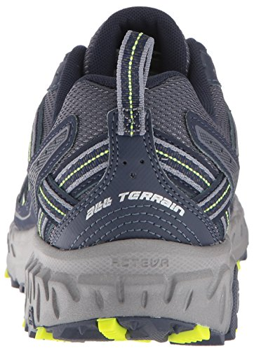 New Balance Men's MT410v5 Cushioning Trail Running Shoe, Navy/Yelow, 7.5 D US by New Balance (Image #2)