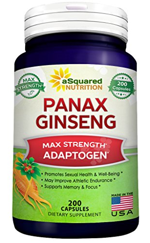 Pure Korean Panax Ginseng - 200 Capsules - Premium Asian Ginseng Root Complex Supplement - High Potency Ginsenosides - Adaptogen Ginseng Pills for Sex & Mental Health - Max Strength ()
