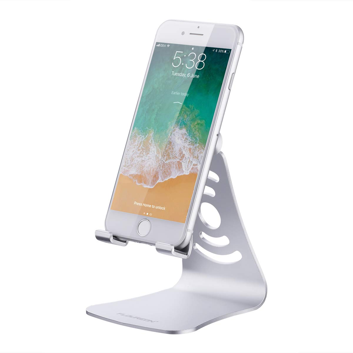 FLOUREON Phone Stand Aluminum Tablet Stand Desktop Stand Holder 270°Multi-Angle Stand/Holder/Dock Replacement Stand for iPad mini iPad Pro Samsung S8/S8 Plus/Note 8 Tablets and Smart Phones Black