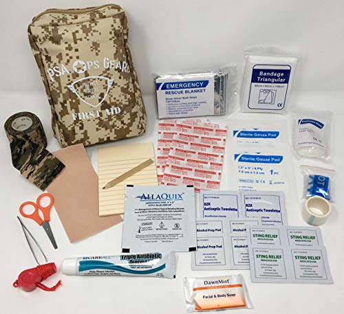 Scout Personal First-Aid Kit Plus (IFAK containing All Required Items for Boy Scout (BSA) Personal First-Aid Kit Plus More)