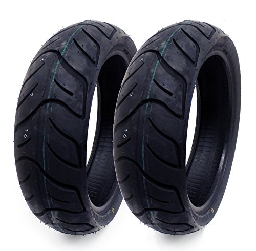 SET OF TWO: Tire 130/60-13 Tubeless Front/Rear Motorcycle Scooter Moped by MMG (Image #4)