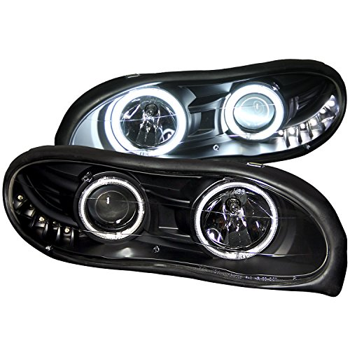 Anzo USA 121160 Chevrolet Camaro Projector with Halo/Black Clear with Amber Reflectors Headlight Assembly - (Sold in Pairs)