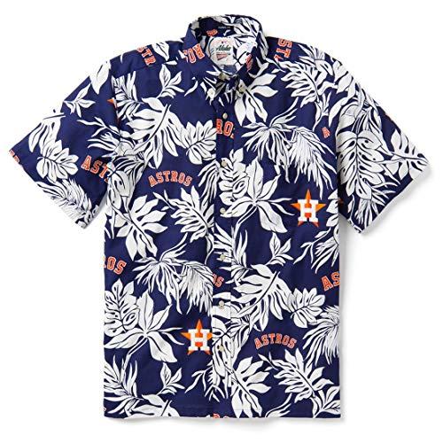Reyn Spooner Men's Houston Astros MLB Classic Fit Hawaiian Shirt, Aloha 2019, X-Large