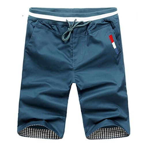 daqinghjxg Mountainskin Mens Cropped Sweatpants Cotton Jogger Korea Hip Hop Harem Outdoors Spring&Summer Shorts Jeans Blue XXL