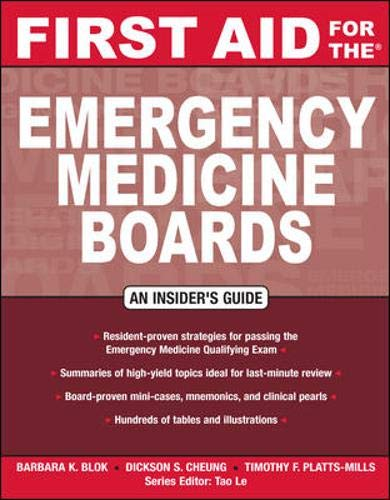 First Aid for the Emergency Medicine Boards (FIRST AID Specialty Boards)