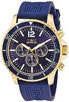 Invicta Men's Pro Diver Stainless Steel Quartz Watch with Polyurethane Strap, Blue, 24 (Model: 24392)