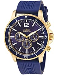 Invicta Mens Pro Diver Quartz Stainless Steel and Polyurethane Casual Watch, Color:Blue (Model: 24392)
