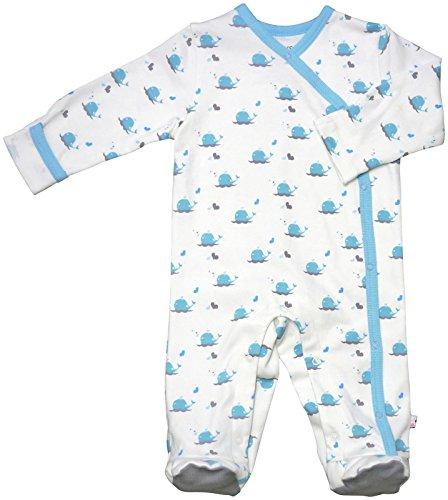 Babysoy Baby Organic Cotton Pattern Footie Pajamas