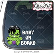 Baby Hulk  BABY ON BOARD  Sign Vinyl Decal Sticker for Cars / Trucks