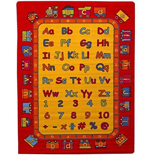 - Mybecca Kids Rug ABC Fun Rug 8 x 11 Non Slip Gel Backing Size approximate: 7' feet 2