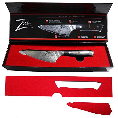 ZELITE INFINITY Honesuki Knife 4.5 inch - Alpha-Royal Series - Best Quality Japanese AUS10 Super Steel 67 Layer Damascus - Razor Sharp, Deep Blade, Versatile Boning Knives Specifically for Chicken by Zelite Infinity (Image #1)