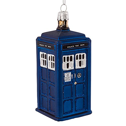 (Kurt Adler 4.25-Inch Doctor Who Tardis Glass Figural Ornament)