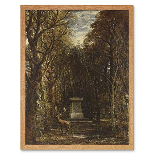 John Constable Cenotaph to The Memory of Sir Joshua Reynolds Art Print Framed Poster Wall Decor 12x16 inch