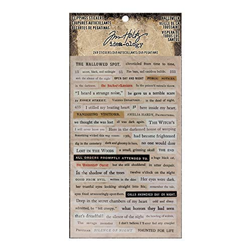 Tim Holtz Halloween Idea-Ology, Halloween Clippings Stickers -