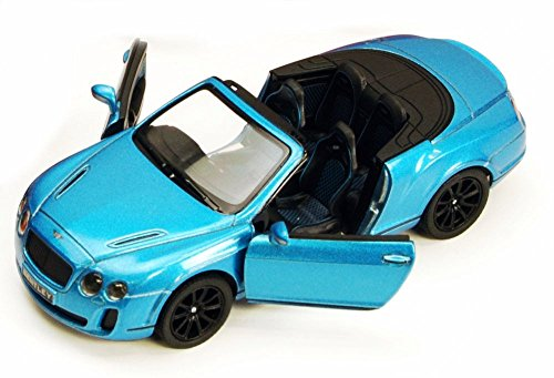 KiNSMART 2010 Bentley Continental Supersports Convertible, Blue 5353 D 1/38 Scale Diecast Model Toy Car
