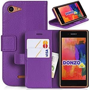 DONZO Wallet Structure Funda para Sony Xperia E3 violeta